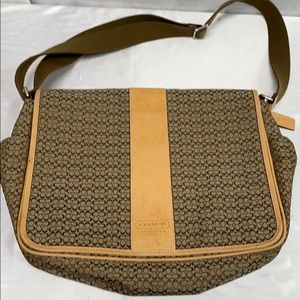 Coach Signature Messenger Bag Handbag Adjustable